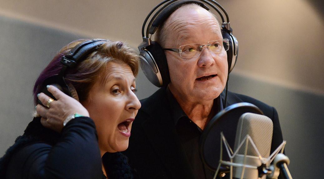 """Janis Siegel und Niels Landgren im Studio für """"Some Other Time"""" - A Tribute to Leonard Bernstein"""
